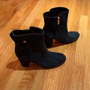 Navy Blue Suede Tommy Hilfiger Boots